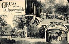 Ansichtskarte / Postkarte Tharandt im Erzgebirge, Gruß aus der Klippermühle, Altdeuts... | akpool.de