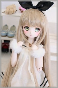 バンド→彩乃 Anime W, Anime Dolls, Ooak Dolls, Blythe Dolls, Barbie Dolls, Kawaii Doll, Kawaii Anime Girl, Pretty Dolls, Beautiful Dolls