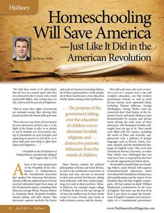 Homeschooling Will Save America - Just Like It Did in the American Revolution The Old Schoolhouse Magazine - April 2013 - Page 92-93