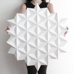 Wall Decoration, Paper Wall Decoration, Origami Wall Art, Wall Decor, Shop Display - Moduuli White Circle