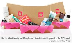 birchbox.com-- hand-picked beauty and lifestyle samples, delivered to your door for $10/month. WANT
