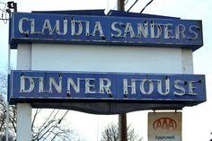 Claudia Sanders Dinner House neon sign by SeeMidTN.com (aka Brent), via Flickr