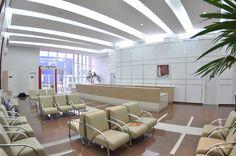 Projeto arquitetônico e interiores   Clínica Salus   Recepção   Cascavel - PR