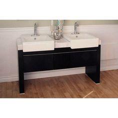 """Bellaterra Home Essex 58"""" Double Bathroom Vanity Set"""