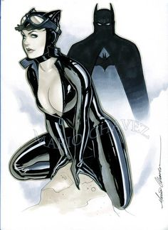 ich bristol board, copic markers, brush and ink. whatcha lookin at Catwoman Comic, Batman And Catwoman, Gotham City, Class Comics, Batman Love, Catwoman Selina Kyle, Batman Artwork, Best Comic Books, Marvel Characters