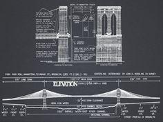 Admiralty head lighthouse 8 x 10 architectural blueprint art print brooklyn bridge blueprint vintage rustic new york brooklyn bridge architectural blueprint drawing art print poster malvernweather Images