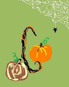 C pumpkin & spider
