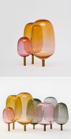 """THE WOODS"" glass objects by Andreas Engesvik"