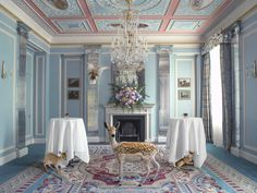 The Lanesborough   Karen Knorr: [from Juxtapoz]  Working in a predominantly digital format, images of interiors are combined with animal figures photographed separately and then inserted into the environment of the artist's choice.....[Animals] encroach into the domain of museums and palaces, showing us the incommensurable distance between two worlds: raw nature on the one hand and on the other the cultural site which allows nature entry only in the form of a representation.