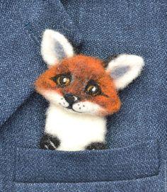 Купить или заказать Валяная брошь Лисенок в интернет-магазине на Ярмарке Мастеров. Валяная брошь Лисенок выполнена из шерсти в технике сухого валяния. Крепеж завалян с обратной стороны. Яркая оригинальная брошка будет отлично смотреться как на одежде ( лацкан пальто, пиджака, свитер, шарфик), так и на сумке или рюкзачке. Возможен также вариант магнитика.