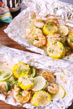 Cilantro-Lime Shrimp Foil Packs vertical