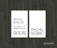it's a business card - but i would make it a larger size and it could be a wedding invitation.....