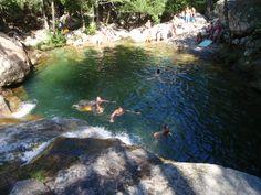 Korsika Kaskadenserie baden Gumpen Polischellu