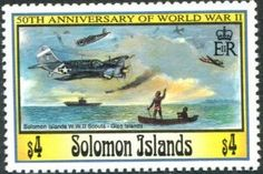 Stamp: World War II Scouts, Gizo, Solomon Islands (Solomon Islands) (50th anniversary of ‭World War II) Mi:SB 825,Sn:SB 751,Sg:SB 770