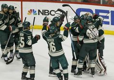Minnesota Wild clinch series over St. Louis Blues on home ice to advance to . Minnesota Wild, Minnesota Vikings, Ice Games, Wild North, Stanley Cup Playoffs, Chicago Blackhawks, Boston Red Sox, Motorcycle Jacket, Hockey