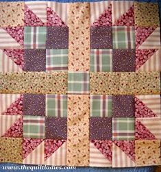 Tutorial on how to make a bear paw quilt pattern