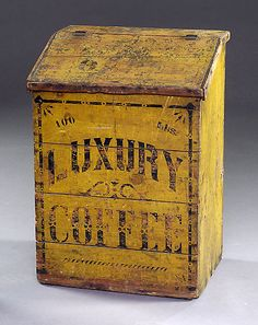 Awesome Early Old Luxury Coffee Wooden Box