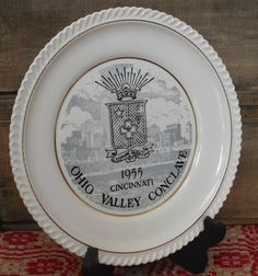 Sold. Vintage 1955 Sigma Phi Epsilon Fraternity, SigEp Collector Plate, Grand Chapter Conclave, Ohio Valley, SigEp Commemorative Plate, Favor by AgsVintageCove on Etsy