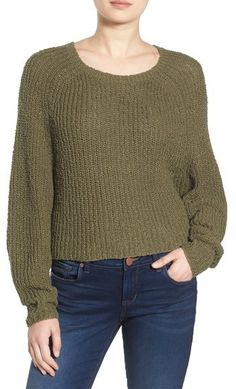 Slouchy, soft and full of rustic ribbed knit texture. BP. Dolman Shaker Stitch Pullover