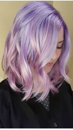 soft lavender colored hair