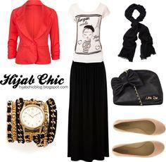 Hijab Style Inspiration: Red Blazer