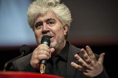 """Spanish director Pedro Almodovar, pictured on October 17, 2014, cancelled a press junket for his newest film """"Julieta"""""""
