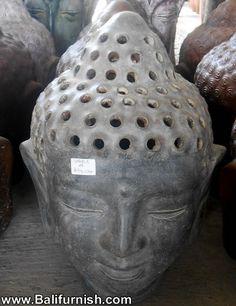 pot2-18-buddha-head-terracotta-ceramic.Buddha heads made of terracotta or clay. Made in Indonesia