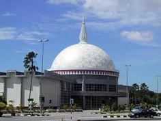 #Brunei's Royal Regalia Museum (Bangunan Alat Kebesaran Diraja) was established to commemorate the 1992 Silver Jubilee of His Majesty's accession to the throne.    The hall was built on the site of the Winston Churchill Memorial Building which has been renamed, modernised and considerably extended. The hall's central feature is a spectacular new circular gallery topped with a mosaic-tiled dome which sits in the cup of the original crescent-shaped building, constructed in 1971.