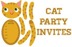 Cat themed party invitations – My Paper Crane