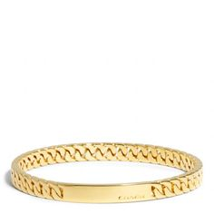 The Curbchain Plaque Bangle from Coach