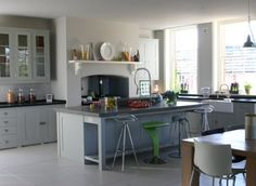 Plain English kitchen- beautiful mix of traditional and contemporary. This reminds me of a 21st century version of a kitchen in an Edwardian country house