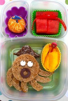 Octopus lunch  http://bentoriffic.wordpress.com  #EasyLunchBoxes, #vegan, #plant based