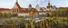 Leipzig - Gefecht vor Grimmaischen Tor 1813 (Ernst Wilhelm  Straßberger)