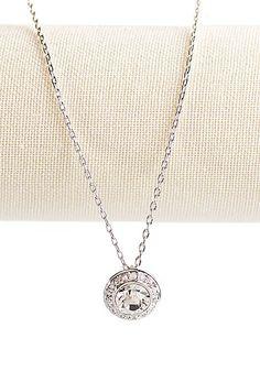Swarovski Rhodium and                                             Crystal Angelic Pendant Necklace