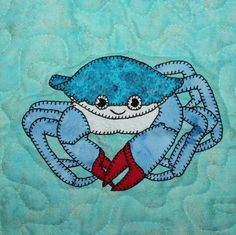 Crab PDF applique pattern marine or ocean animal by MsPDesignsUSA