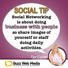 Social Media Tips: People are stickybeaks! They build trust by connecting with what you do and who you work with - so share it with them on social media and start networking! ㋡