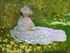 """Springtime"" by Claude Monet (1840-1926)"