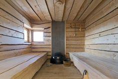 Sauna, keep it simple. Swedish Sauna, Sauna Ideas, Spa Rooms, Weekend House, Shower Designs, Steam Room, Finland, Buildings, Landscapes