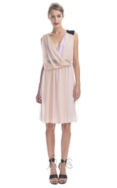 Shop Vionnet Silk Georgette Cocktail Dress at Moda Operandi