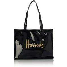 Harrods Signature Shoulder Bag ($38) ❤ liked on Polyvore featuring bags, handbags, shoulder bags, harrods handbags, shoulder handbags, patent handbags, shopper handbags and patent purse