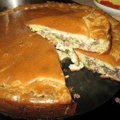 Супер нежный ЗАЛИВНОЙ  пирог с капустой и мясом.