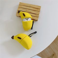 Banana AirPod Case Protective Cover Soft Silicone Shockproof for Apple AirPods 2 & Big Banana Musa Nana Bag Pendant Decor Keychain Airpods Case (Banana) Cute Ipod Cases, Iphone Cases, Apple Airpods 2, Accessoires Iphone, Phone Gadgets, Electronics Gadgets, Office Gadgets, Spy Gadgets, Cooking Gadgets