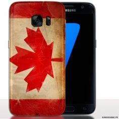 Etui Coque Samsung S7 Drapeau Canada | Housse S7. #flag #canada #S7 #Samsung #Coque
