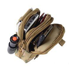 D30 Men's Tactical Waist Bags Outdoor Sport Saddlebag Purse Mobile Phone Case fo - US$10.99