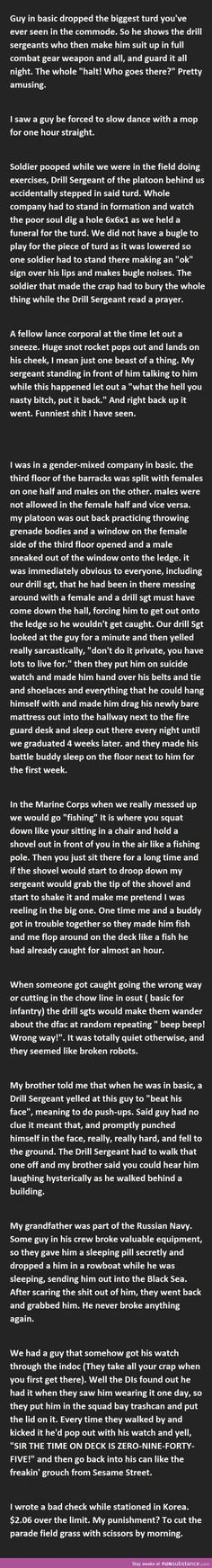 20 Funny Military Punishments- the and one are hilarious Military Memes, Funny Military, Funny Army, Military Life, Funny Cute, The Funny, Hilarious, Funny Memes, Jokes