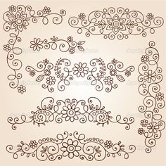 Henna Paisley Vines and Flowers