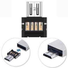MINI USB 2.0 MICRO USB ELECTRONIC CHARGER CONVERTER ADAPTER CELLPHONE OTG.