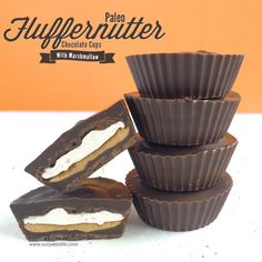 Paleo Fluffernutter Chocolate Cups | Our Paleo Life