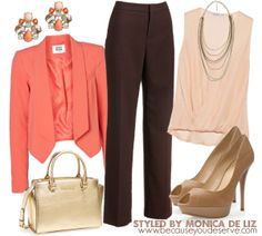 Dont know WHAT TO WEAR with brown pants? If you've got one sitting in your closet then you are reading the right pin (the universe heard your prayers sista). Now let's roll up our sleeves and build this easy fresh look. Brown Pants Outfit For Work, Camel Pants Outfit, Outfits With Brown Pants, Brown Dress, Dress Pants, Cute Work Outfits, Fall Outfits For Work, Elegantes Outfit, Pants For Women