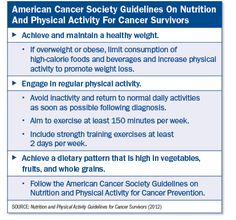 new guidelines help cancer survivors exercise and eat better